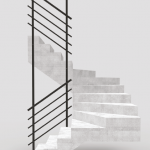 Stair railing 2 tubes